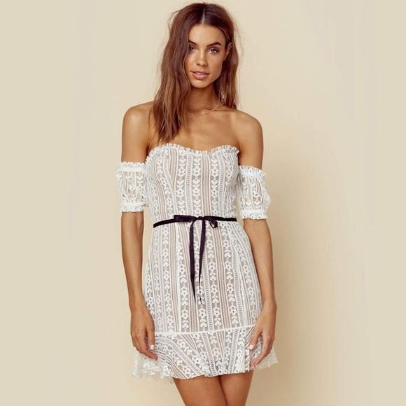 For Love And Lemons Dakota Lace Mini Dress Nwt